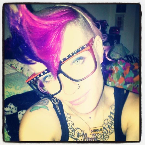 One mind at a time I'm changing the way Smallminded Judgemental people In my city view what they dont understand. I bleed blood. I breath air. My heart beats. Dontjudgeme Punkgirls sexygirls girlswithpinkhair hotgirlproblems singleladies alaskagirlskickass alaskagirls alaska acceptance girlswithpurplehair girlswithmohawks lmfao