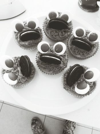 My first muffins ever Halloween Muffins Oreo