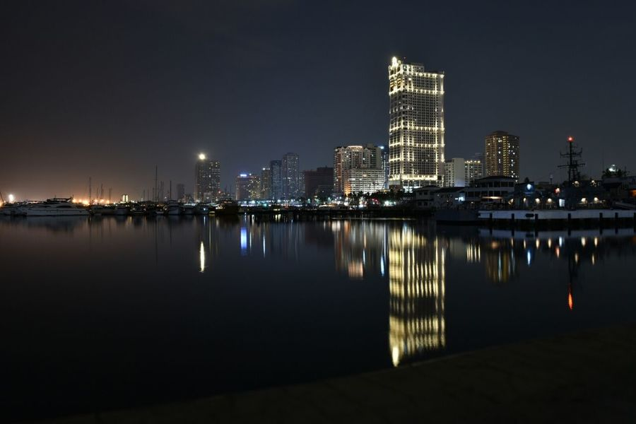 Harbor Square, Manila Long Exposure City Lights Cityscapes Sooc Reflection Seaside Taking Photos Eyeem Philippines Nikon D5500 Cities At Night
