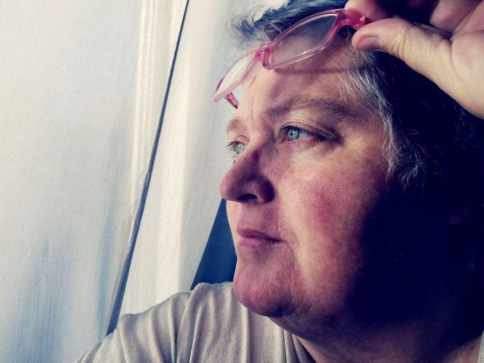EyeEm Selects Window One Person Adult People Only Women Close-up Real People Portrait Looking Through Window Woman Mature Adult Mature Woman Washington Terrace Utah Eyeglasses