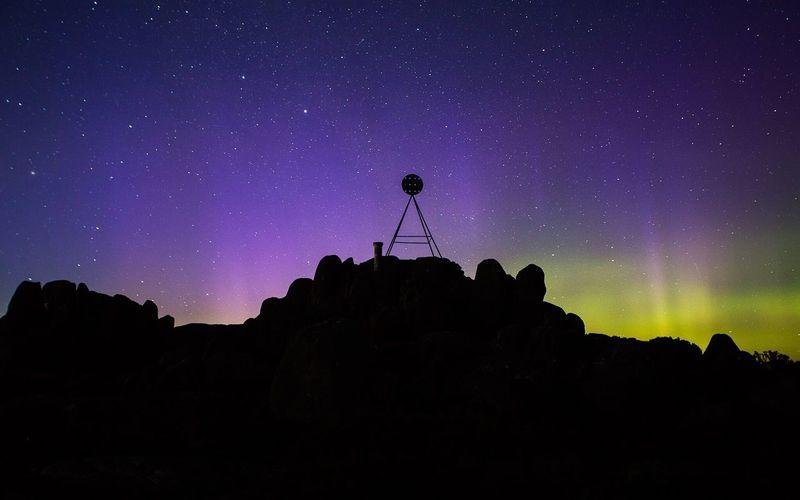 Tower On Mt Wellington Against Star Field