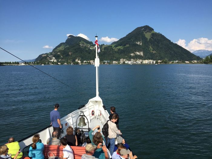 Boattrip to Lucerne Beauty In Nature Leisure Activity Mountain Mountain Range Water