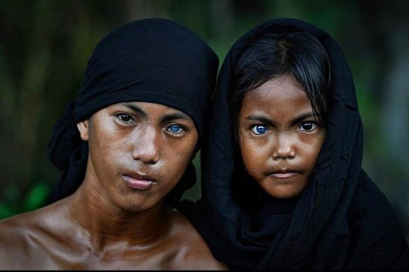 Buton tribe with blue eyes