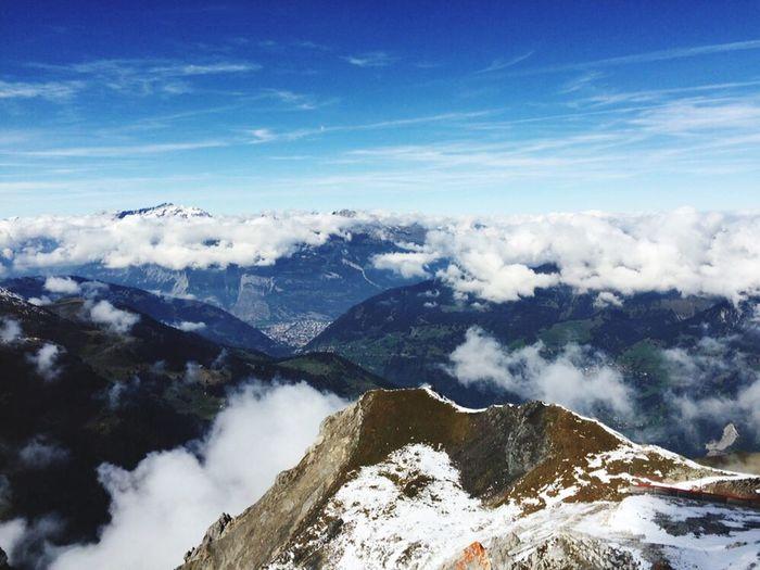 Mountains Arosa Cloudy View