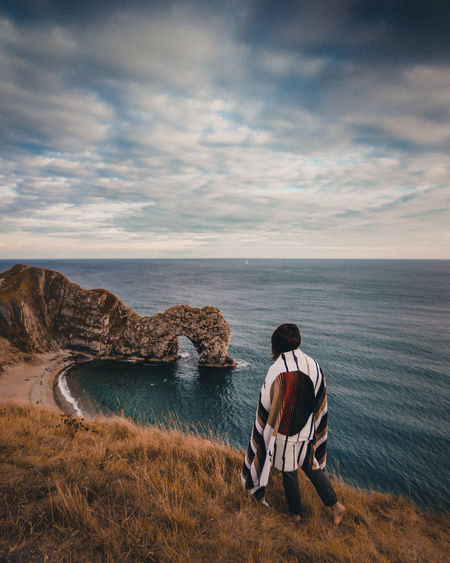 Tourist Travel Travel Photography Traveling Travelling Beauty In Nature Blanket Blue Canon Cloud - Sky Horizon Land Looking At View Nature One Person Outdoors Photo Portrait Scenics - Nature Sea Sky Tourism Tranquility Travel Destinations Water