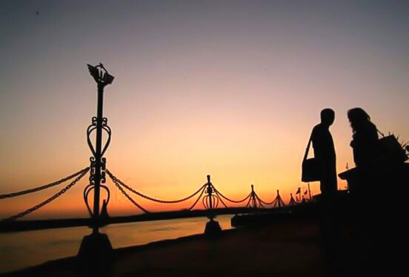Welcome to İstanbul Haydarpasa TCDD Silhouette Sunset Sunset Silhouettes Travel Enjoying Life Seaside