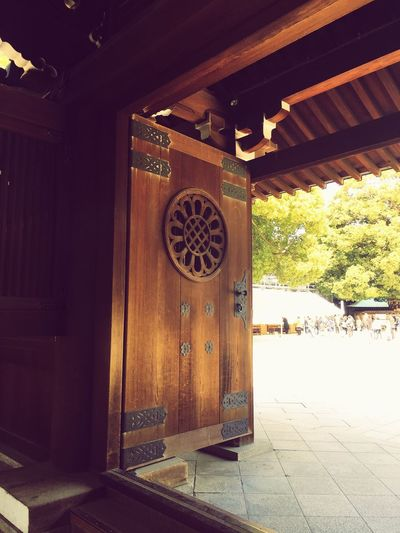 Entering through the temple gates ... Eyeem Photography Eyeem Architecture Lover Wooden Door Old Architecture Shrine Tokyo Ancient Architecture Temple Doors Gates Architecture Built Structure No People Day Wood - Material Indoors