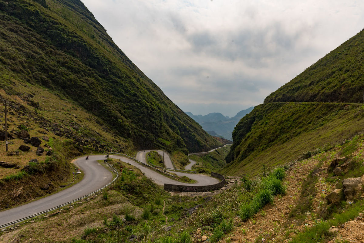 Beauty In Nature Ha Giang, Vietnam High Angle View Landscape Mountain Mountain Road No People Outdoors Road Road Trip Scenics Tranquil Scene Viet Nam Vietnam Winding Road
