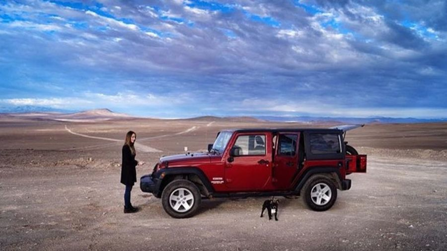 Jeep Life Wrangler Jeep Wrangler  Jeep Jeep Life Standing 4x4 Nature Landscape Day Adults Only Full Length One Person Arid Climate Vehicle Breakdown Adult Only Women Adventure