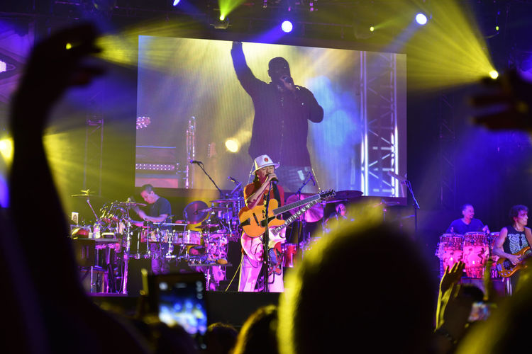 Image taken in the Carlos Santana concert in July, in Gondomar, Portugal. Arts Culture And Entertainment Carlos Santana Concert Event Latin Music Musician Performance Performer  Show