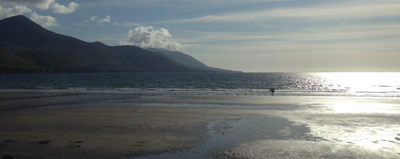 Rossbeigh kerry Ireland Kerry Ireland Rossbeigh Donkey And A Man Beach Beautiful Mountains Wild Atlantic Way