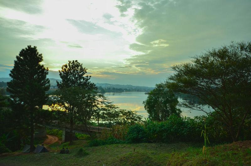 Sunset over the Nile NileRiver Jinja Uganda  Sunset