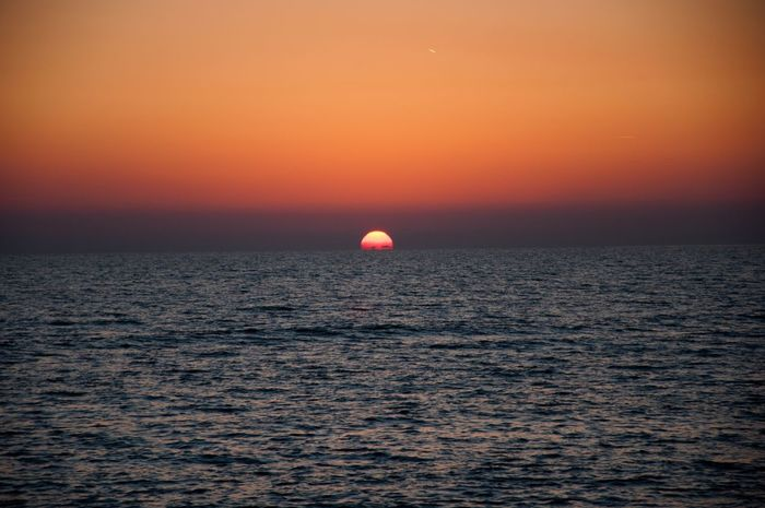 Ostia beach sunset (Rome) Light Mediterranean  Sunset Sea Beauty In Nature Scenics Orange Color Horizon Over Water Tranquil Scene Nature Tranquility Water Idyllic Waterfront Sky Sun Outdoors