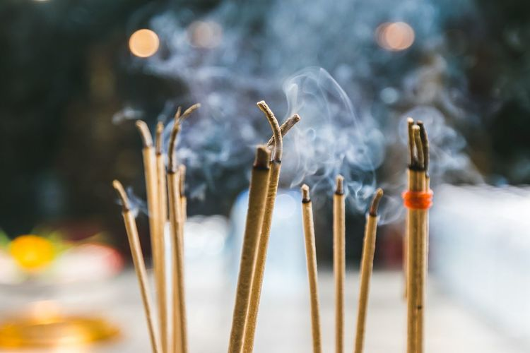 Close-up of incense
