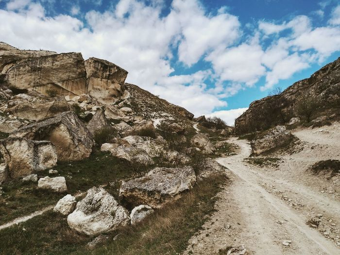 Cloud - Sky Sky Rock - Object Outdoors Nature Desert Day Landscape Mountain No People Travel Destinations Scenics Arid Climate Rural Scene Beauty In Nature Russian Nature Russia Rocks Trip Nature Travel Lifestyles Beauty In Nature The Great Outdoors - 2017 EyeEm Awards