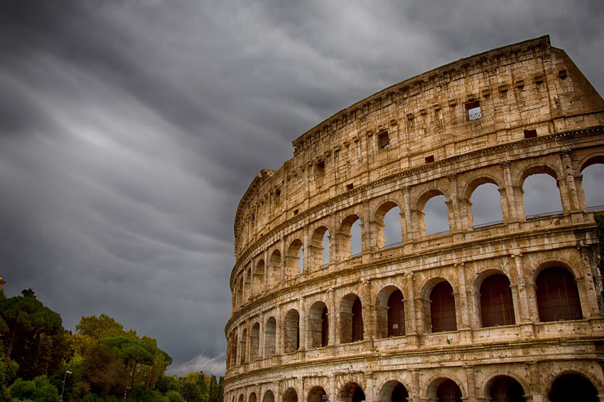 Colosseum roma Historical Building Rome Architecture Details Cloud - Sky Collosseum Italy Landmark Monument