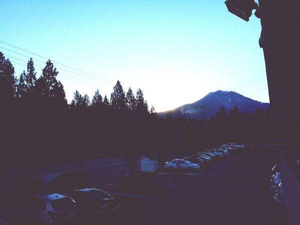 Mount Shasta Mountain Silhouette