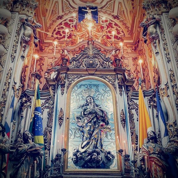 Religion Place Of Worship Spirituality Indoors  No People Day Statue Low Angle View Architecture Sculpture Built Structure EyeEmNewHere Conceição Da Praia Faith Sacral Architecture Church Buildings Sacral Art Church Interior Church Architecture Art Illuminated