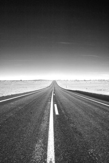 Road leading towards sea