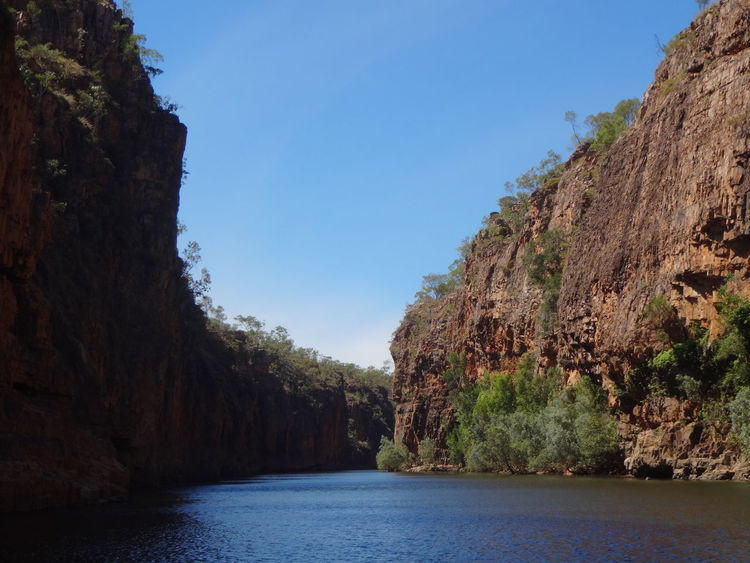 Katherine Gorge Beauty In Nature Clear Sky Cliff Nature Rock - Object Rock Formation Scenics Tourist Destination Tranquility Travel Australia Travel Destinations Water