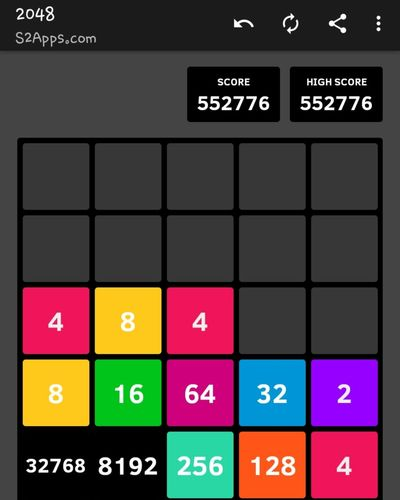 2048 - many more to go Game 2048 Phone Games. Achievement Happy Control Panel Chart Multi Colored Data Industry Communication Text Device Screen