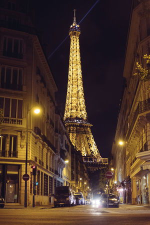 Cities At Night City City Street Cityscape Eiffel Tower France Low Angle View Night Lights Night Photography Nightphotography Paris ParisByNight Alley Beutiful  Cityscapes Eifel Fujifilm Iluminated Night Old Street Street Photography Streetphotography Travel Destinations Treveling