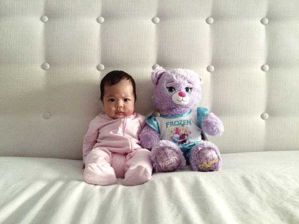 My baby and her new friend Baby Babygirl Teddybear Teddy Bear Lifestyle The Portraitist - 2015 EyeEm Awards