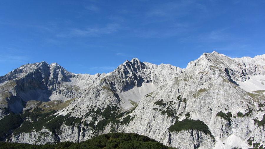 Karwendel Kaskarspitze Praxmarkarspitzen Beauty In Nature Blue Day Landscape Mountain Mountain Range Nature No People Outdoors Rock - Object Scenics Sky