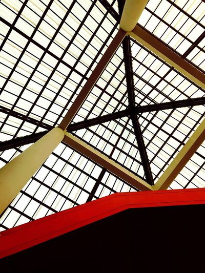 IPhoneography Ceiling Indoors  Low Angle View Skylight Pattern Architecture Day No People Architectural Design Roof Built Structure