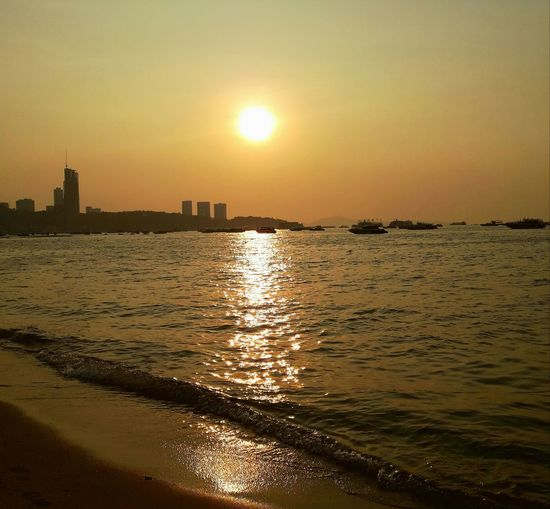 sunset brawding Beach Sunset City Water Sky Beauty In Nature ❤️❤️ Thailand🇹🇭 2018 Day Summer Sports EyeEmNewHere