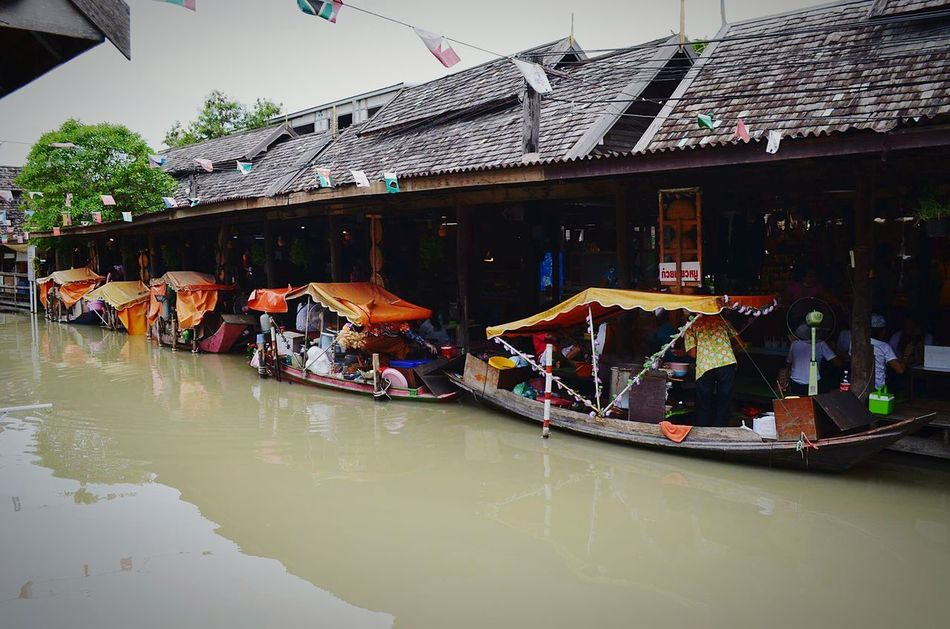 Outdoors Day Thailand People Water Travel Boat Building Exterior Built Structure Looking Away Bymyphone Battle Of The Cities