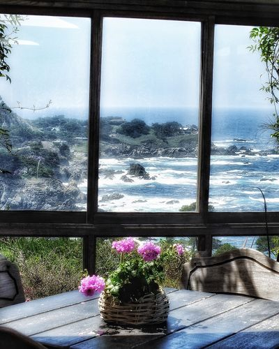 """""""Room with a view"""" Beauty In Nature Dramatic, Waves, Idyllic Mesmerizing Nature No People Ocean, Big Sur, Room, Vita, Rock Formation, Coastline,tourism , Scenics Vantage Point"""