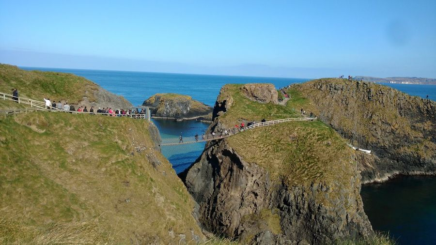 Carrick-a-Rede Rope Bridge Water Sea Sky Horizon Over Water Beauty In Nature Horizon Beach Scenics - Nature Nature Outdoors My Best Travel Photo