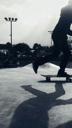 Shadow Sky Leisure Activity Outdoors Real People One Person EyeEm Team Finding New Frontiers EyeEm Black And White Black & White Skate Life Skatepark Skateboard Skatelife Skateboarding Young Adult Adapted To The City The City Light Welcome To Black Out Of The Box Black And White Friday