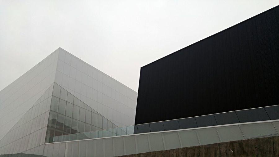 Futurist Glass And Steel Modern Unique Perspective Slanted Oblique Angle Building Design Architecture Cityscapes Modern Architecture Montréal Canada Black & White Collection The Graphic City