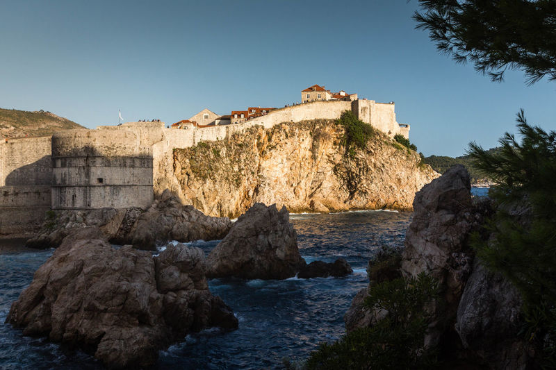 #croatia #dubrovnik Architecture Building Exterior Built Structure Castle History Nature Outdoors Rock - Object Water