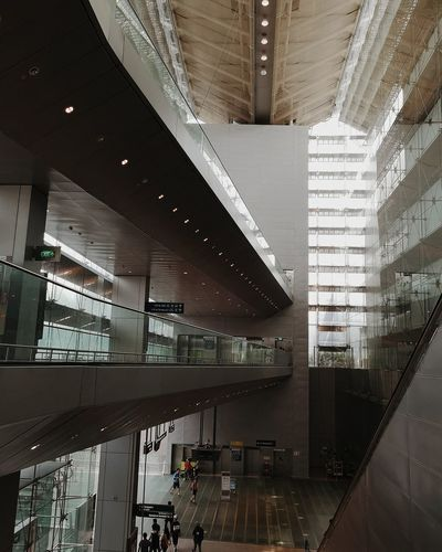 Inside Terminal Architecture Building Built Structure Ceiling City City Life Day Flooring Glass - Material Incidental People Indoors  Modern Office Building Exterior Railing Transparent Transportation Travel
