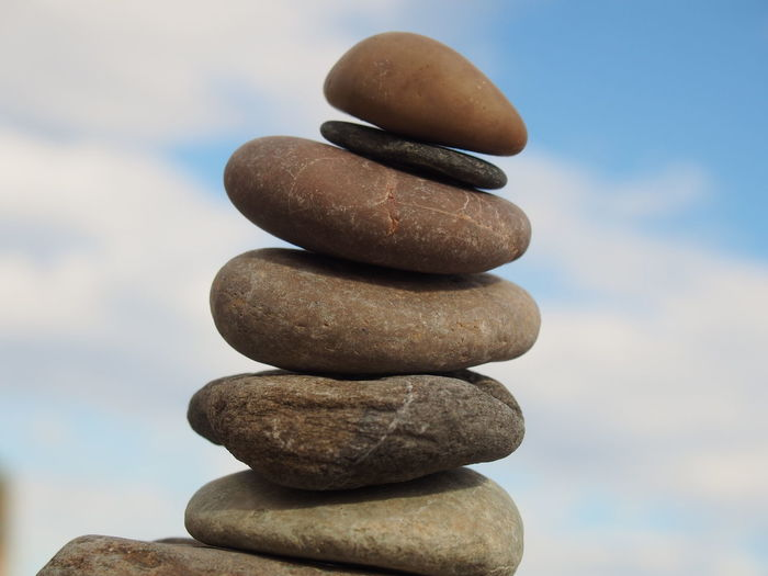 Abundance Arrangement Balance Focus On Foreground Group Of Objects In A Row Nature No People Non-urban Scene On Top Of Outdoors Pebble Pyramid Pyramid Shape Rock - Object Scenics Sky Stack Stone - Object Tourism Tranquil Scene Tranquility Vacations Variation Zen-like