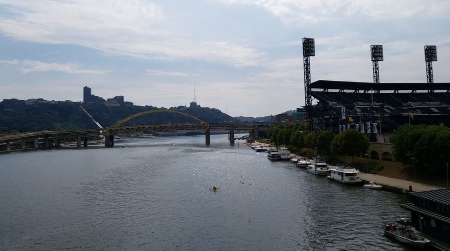 River Pennsylvania Pittsburgh Business Finance And Industry PNC Park PNC Park Stadium Pennsylvania Beauty Nautical Vessel Boat Tourism City Water Bridge - Man Made Structure Cityscape River Sky Architecture Building Exterior Built Structure Cloud - Sky Tranquility Scenics Idyllic Tranquil Scene Horizon Over Water The Architect - 2018 EyeEm Awards The Great Outdoors - 2018 EyeEm Awards The Traveler - 2018 EyeEm Awards