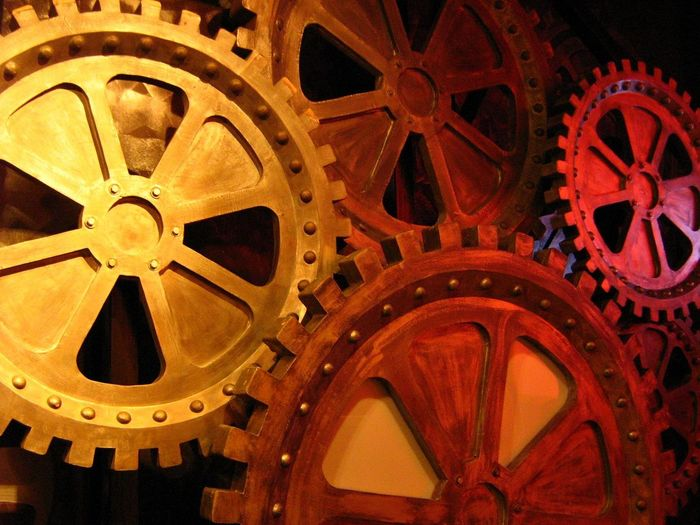 Clockworks Gear Cogs And Parts Art Installation