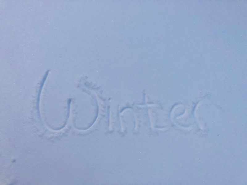Snow ❄ Winter Wintertime Close-up Cold Temperature Communication Frozen Nature No People Outdoors Snow Snow Covered Text Weather White Color Winter Writing On Snow Shades Of Winter