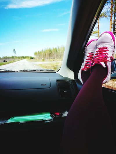 Car Windshield Transportation Driving Shoes Shoes ♥ Dashboard Mode Of Transport Adult Day People One Person Sky Out Of The Box