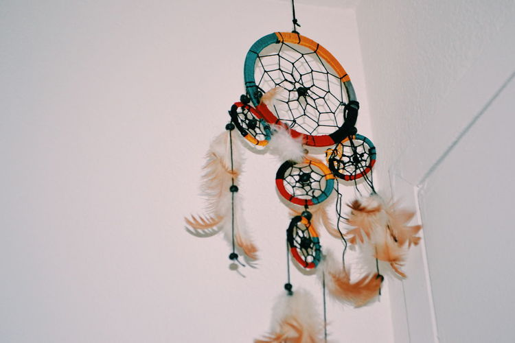 Low angle view of dreamcatcher