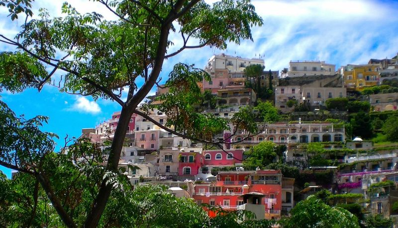 Amalfi🌷coast Positano, Italy Tree Building Exterior Architecture Cloud - Sky Sky Day Built Structure No People Outdoors Growth City Nature Cityscape