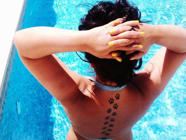 Swiming In The Swiming Pool That's Me My Tatoo ❤❤❤ Tattoomodels Tatoo My Tatoo!!! Enjoying Life Relaxing Blue Hour