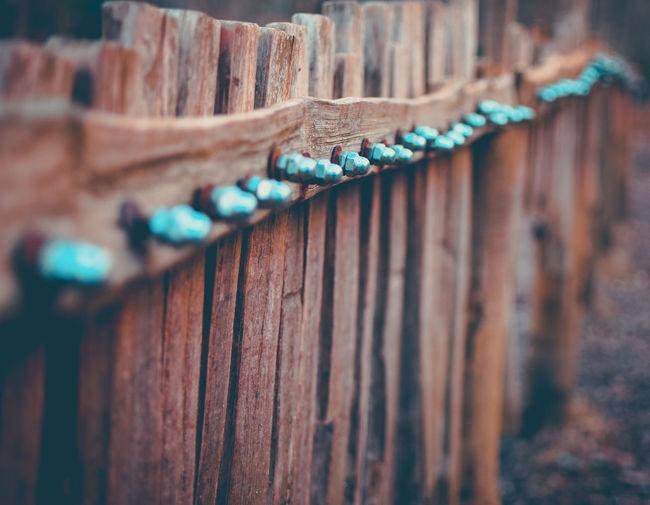 Close-up of rusty wood
