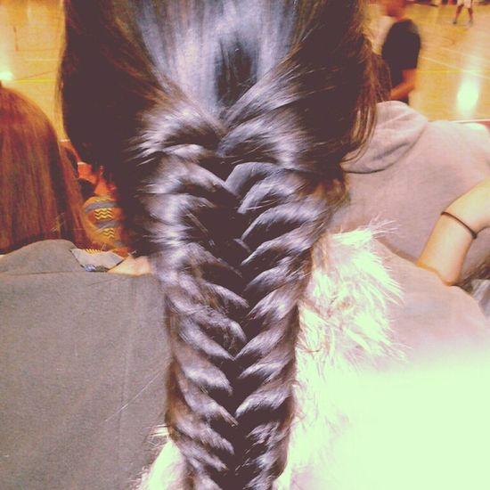 Braided malinda's hair at the game yesterday Fishtail Braid Hair Basketball Game