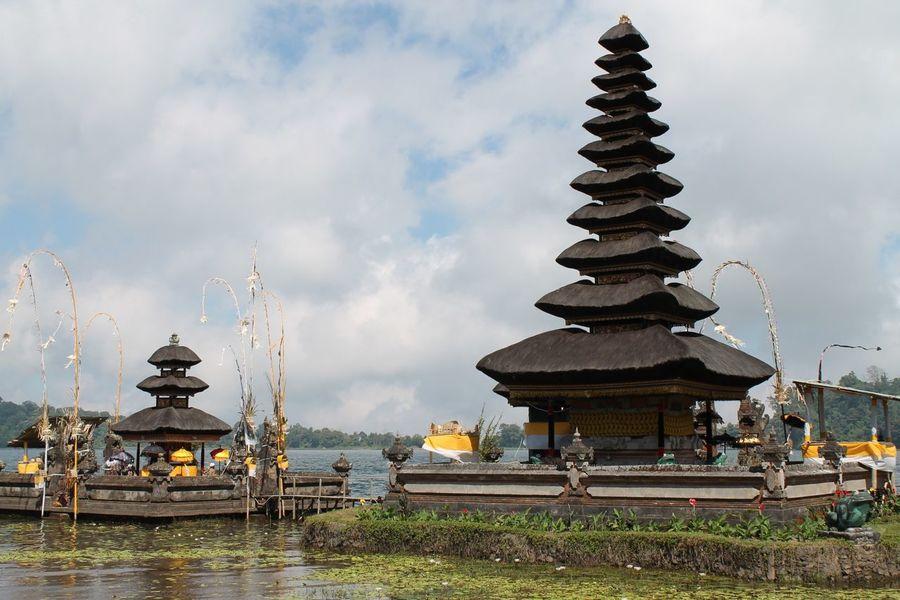 beratan lake EyeEm Selects Water Place Of Worship Spirituality Religion Sky Architecture Travel Cloud - Sky