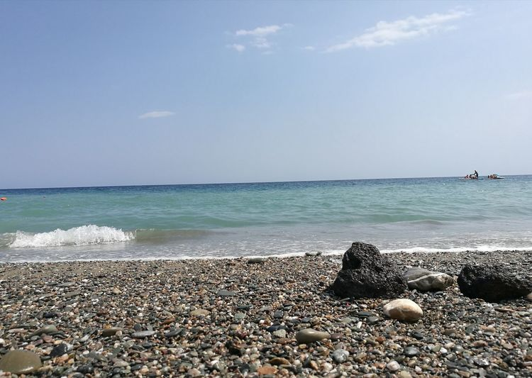 Beach Sea Horizon Over Water Water Vacations Nature Sky Travel Destinations Beauty In Nature Day Outdoors Tranquil Scene Tranquility Scenics Summer Wave No People Blue Horizon Beautiful Day Italy🇮🇹 Beautiful Colors NoFilterNoEdition Summer Views Beautiful