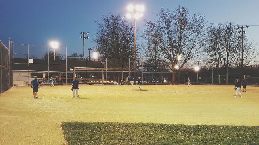 Night at the ball field. Taking Photos Baseball Life Baseball ⚾ Future Cardinal